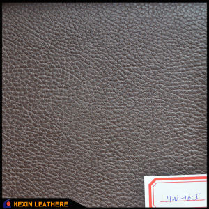 Abraision Resistant Lychee PVC Leather for Car Seat Cover Hw-645 pictures & photos