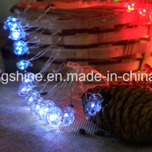 Christmas Santa Claus Waterproof Battery Operated Copper Wire LED String Light 6.6FT Long 20 Lights for Christmas Halloween Home Decoration pictures & photos