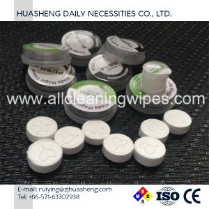 Compressed Cleaning Tissue Coin Round Shape pictures & photos