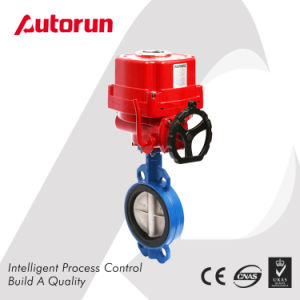 Chinese Wenzhou Manufacturer Wafer Connection Explosion Proof Motorized Butterfly Valve pictures & photos