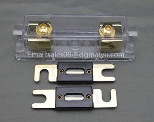 0/2/4 Gauge Ga Anl Fuse Holder + Anl Fuses Holder Distribution Inline 0 4 8 Ga Gold Plated pictures & photos