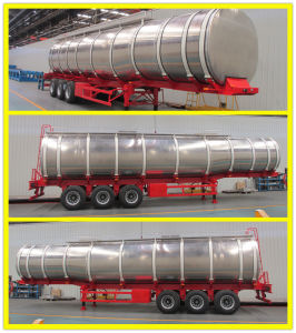 35000liters 3 Axle Aluminum Fuel Tanker Trailer for Saudi Arabia pictures & photos