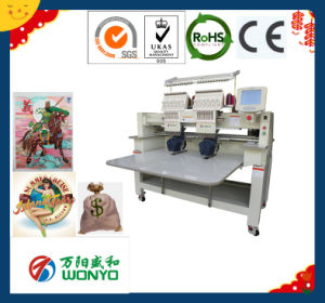 Wonyo Computer Control Two Head for Cap/Flat/T-Shirt/Garment Embroidery Machine pictures & photos