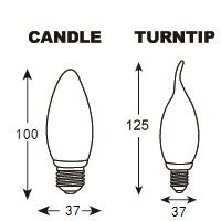 LED Bulb Lamp Candle/Turntip Shape Tail E27 3W/5W pictures & photos