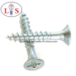Carbon Steel Zinc Plated Csk Head Screws pictures & photos