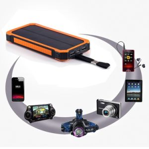 15000mAh Solar Panel Charger with 6LED Flashlight pictures & photos