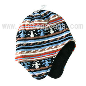 Knitted Hat with Ear Flaps (JRK118) pictures & photos