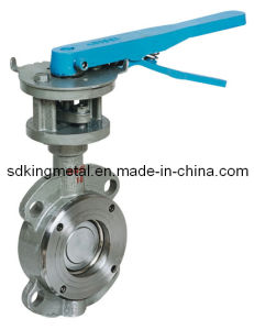 Metal to Metal Sealing PTFE Seat Flange End Butterfly Valves pictures & photos
