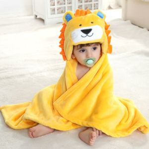 Baby Aspen, Wash & Waddle Bear Hooded SPA Robe, Blue/White, 0-9 Months pictures & photos