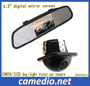 """4.3inch Car Rear View Mirror System (4.3"""" mirror with digital screen +170 degree car camera) pictures & photos"""