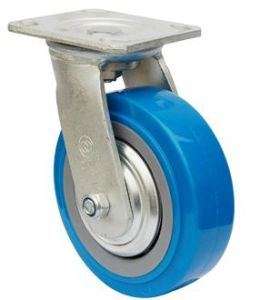 Swive PU Caster Wheel (Blue) pictures & photos