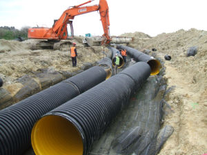 HDPE/PP Profiled Pipes Production Line pictures & photos