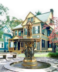 Big Statue Garden Sculpture Fountain (LS-041)