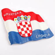 Polyresin Croatia Flag Fridge Magnet (PMG002) pictures & photos