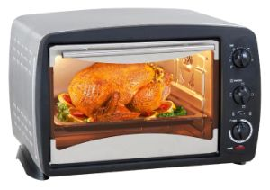 Stainless Steel Electric Toaster Oven with Rotisserie and Convection Function, 1380W, Indicator Light