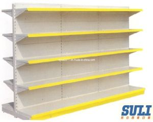 Popular Shop Supermarket Display Shelf with Hanging Back pictures & photos