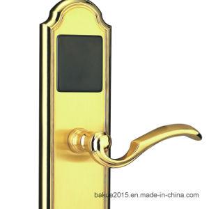 Electronic Hotel Smart Door Lock with RFID Card (DeHaZ1012-EL-NI) pictures & photos