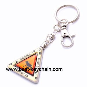 Triangle Spinning Epoxy Sweden Souvenir Keyring (BK52476) pictures & photos