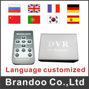 Language Customized CCTV DVR, 1 Channel SD DVR, Support 64GB SD Card Model Bd-300 pictures & photos