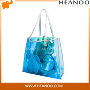 Clear Handbags Made in China Lady PVC Beach Bag pictures & photos