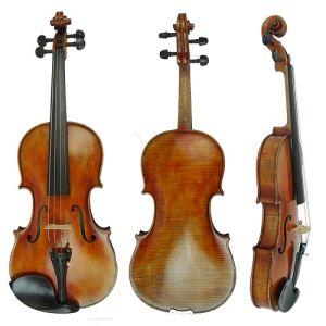BV/SGS Certificate Supplier---Antique Brown Stradivarius European Material Master Craved Violin pictures & photos