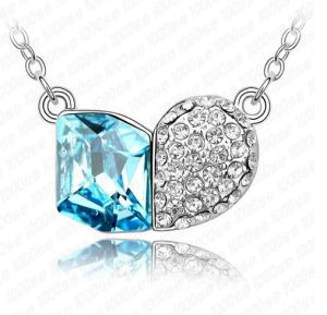 Alloy Blue Crystal Necklace (1105940)