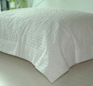 100% Cotton Pillow Sham Seersucker-White pictures & photos