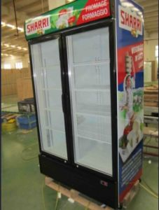 Commercial Display Freezer for Ice Cream and Frozen Food Double Door Refrigerator Stand pictures & photos