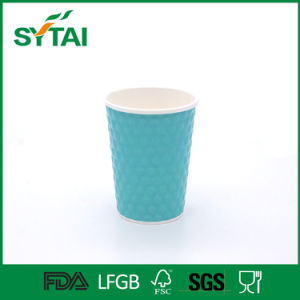 Custom Design Double Wall Disposable Paper Coffee Cup with Lids pictures & photos