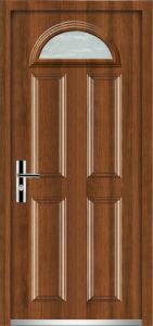 Steel Door with Glasses (YF-D021) pictures & photos