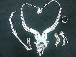 Rhinestone Necklace Set (YCN0058)
