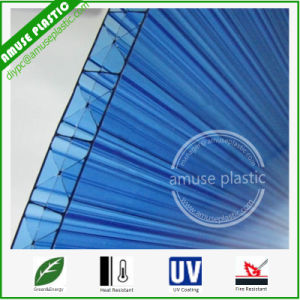 16mm Triple Wall Polycarbonate Sheet Blue X Multi Wall Hollow Board pictures & photos