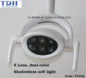 6 LED Lens Shadowless Dual Color Dental Operation Lamp (P103A) pictures & photos