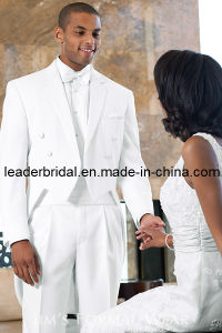Customized White Suits Tailcoat Men′s Swallowtail for 3 Pieces Wedding Suits Tuxedo Mic22 pictures & photos