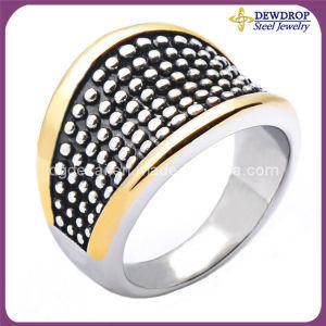 Men′s New Design Gold Finger Ring for Christmas Decoration