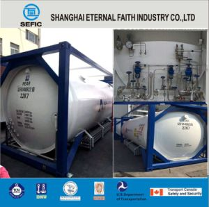 Lox Lin Lar LNG Lco2 Tank Container Asme T75 ISO Tank Container for Liquid Gas pictures & photos