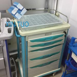 Factory Direct Price Infusion Medcine Trolley, ABS Hospital Surcigal Treatment Cart, ABS pictures & photos