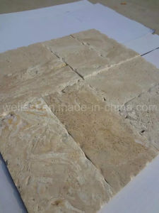 T102 Golden Travertine Pattern for Bathroom Floor/Flooring/Wall Cladding Tile pictures & photos