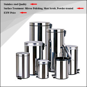 High Quality Stainless Steel Rubbish Bin / Waste Bin / Dust Bin / Trash Bin (3L/5L) pictures & photos