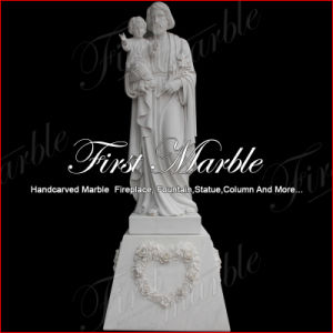Hand-Carved Metrix Carrara Sculpture for Home Decoration Ms-1019