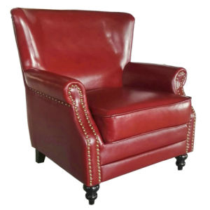 High Quality Upholstered Leather Sofa Chair, Club Chair (627) pictures & photos