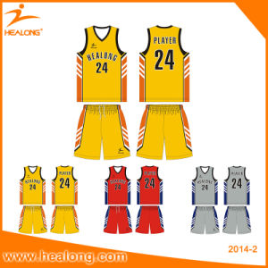 Healong Custom Printing Basketball Jersey Basketball Uniform pictures & photos
