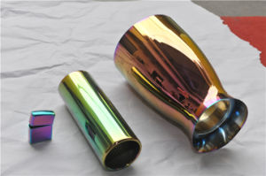 Motorcycle Parts Gas Pipe Gold Blue Rainbow Vacuum Coating Machine pictures & photos