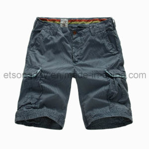 100% Cotton Leisure Men′s Shorts with Four Pocket (APC46) pictures & photos