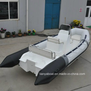 Liya 5.2m Military Inflatable Boat with Fiberglass Hull Hypalon Rib Boat for Sale pictures & photos