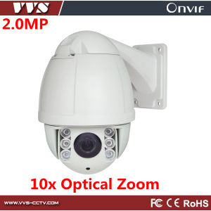 CMOS 1080P Onvif H. 264 Waterproof PTZ Surveillance Camera with 10X Optical Zoom
