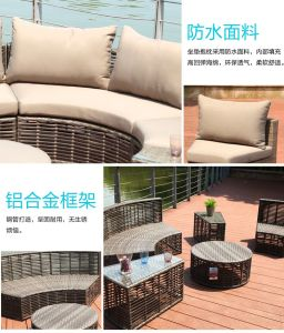 New T Bone Hand Woven Outdoor Rattan Sofa pictures & photos