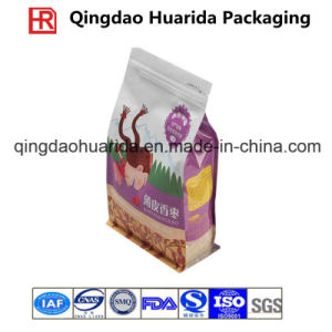 Square Bottom Zipper Plastic Packaging Bag for Tea with Printing pictures & photos
