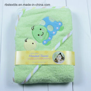 Cute Designs of Cotton Baby Hooded Bath Blanket Bath Towel pictures & photos
