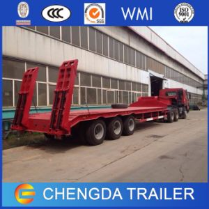 3 Axle Lowboy Low Bed Semi Truck Trailer for Sale pictures & photos